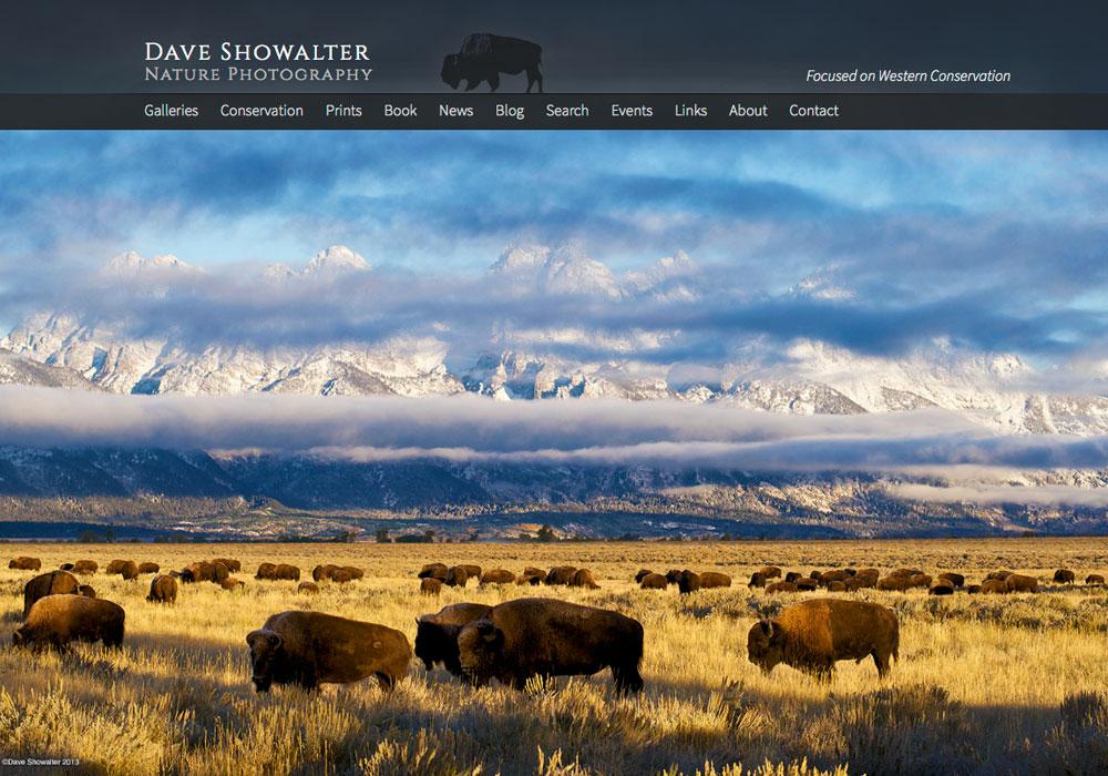 Dave Showalter's fullsize homepage slideshow.